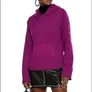RtA Ainsley Distressed Metallic Cashmere Sweater